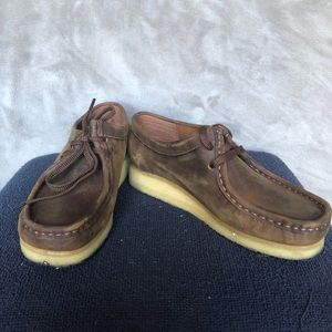 Clark Originals Wallabee Beeswax Leather Size 7.5